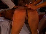 Blondinen Spanking Training